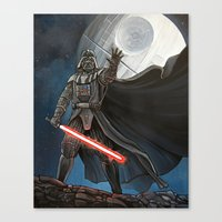 death star Canvas Prints featuring Death Star by Laura-A