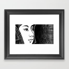 Queen Anne Boleyn Portrait  Framed Art Print