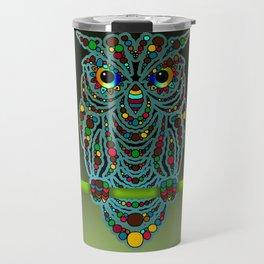 Psycedelic Owl Travel Mug