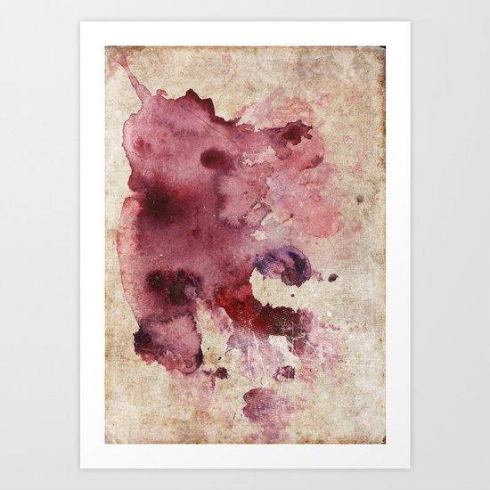 Garnet Color Splash Art Print