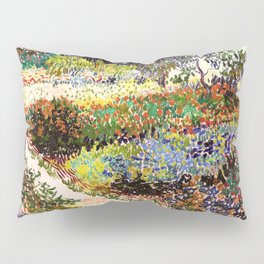 Vincent Van Gogh Flowering Garden Pillow Sham
