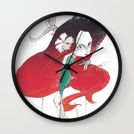 Lost in Tropic Wall Clock