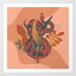 Snake Bouquet Art Print