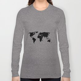 World Outline Long Sleeve T-shirt