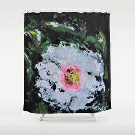 Erika's White Flower Shower Curtain