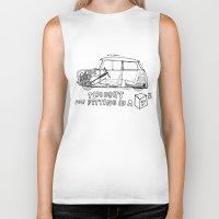mini cooper Biker Tanks featuring Mini Cooper Classic (ADO15) by Swasky