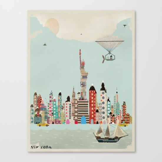 visit new york Canvas Print