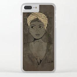 lady like Clear iPhone Case