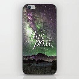 This Too Shall Pass Night Sky iPhone Skin