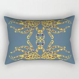 Blue-ringed Octopus Rectangular Pillow