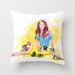 Snow White I | Endometriosis awareness Throw Pillow