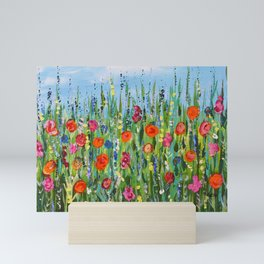 Wildflower Meadow2, Abstract Floral Art, Flower Field Mini Art Print