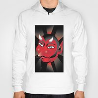 demon Hoodies featuring Demon by riomarcos