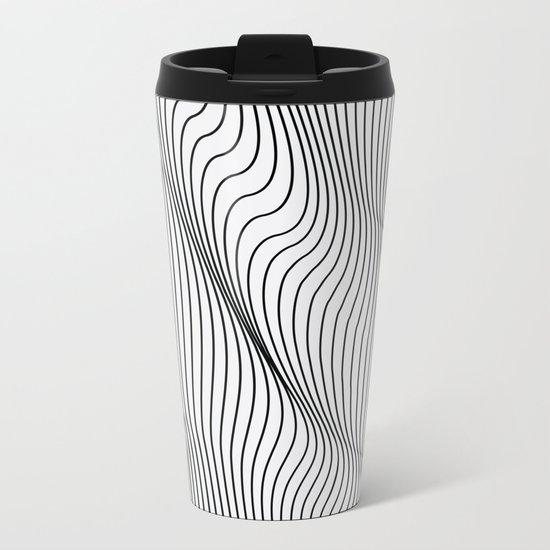 Minimal Curves Metal Travel Mug