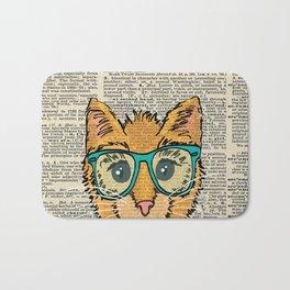 Orange Kitty Cat Bath Mat