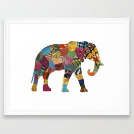 The Elephant. Framed Art Print