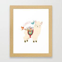Llamaste - When A Llama Offers You A Respectful Greeting Framed Art Print