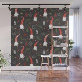 Cute Christmas Elves Wall Mural