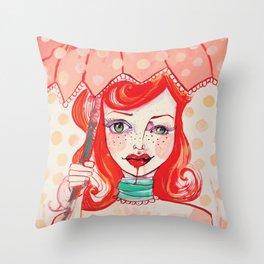 The Strawberry Throw Pillow