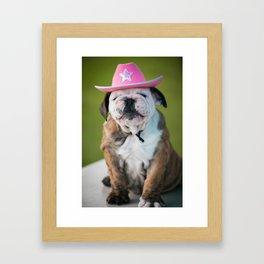 Cowgirl Puppy Framed Art Print