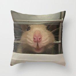 Lele the Rat Smiles Throw Pillow
