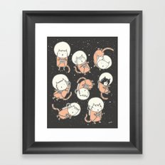 Cat-Stronauts Framed Art Print