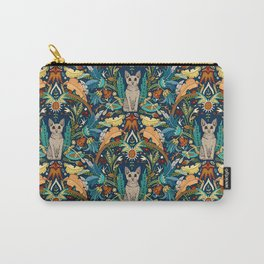 Peterbald cat damask midnight Carry-All Pouch