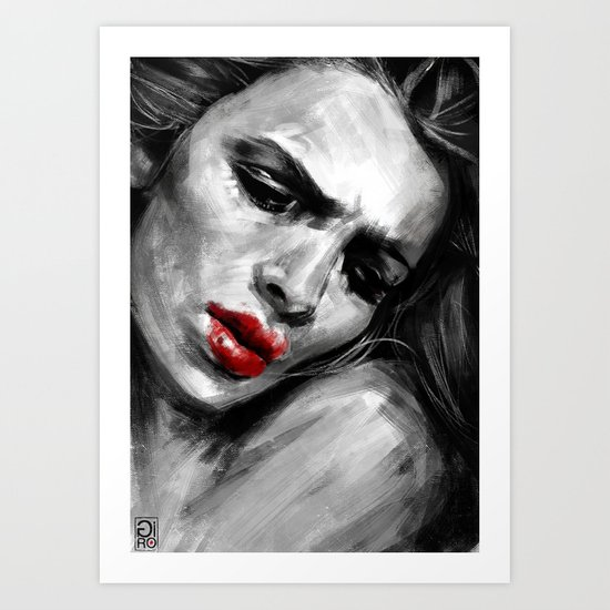 """Red Lips Passion"" Art Print"