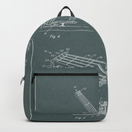 Guitar Patent - charcoal gray Backpack