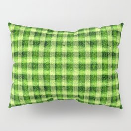 Lime Green and Yellow Gingham Faux Velvet Pillow Sham
