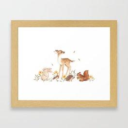 Fawn & Friends Framed Art Print