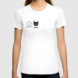 Dobby and Ivan Collegiate Cat Heads T-shirt