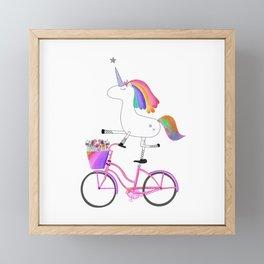 Bicycorn Framed Mini Art Print