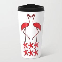 Sea Birds Red Flamingos Travel Mug