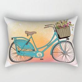 Dutch Bike in Spring Rectangular Pillow
