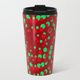 CrimsonSangriaTeal_Abstract Travel Mug