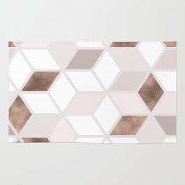 Golden Cubes II Rug