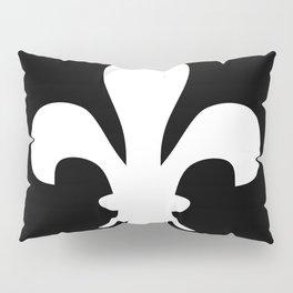 Fleur de Lis (White & Black) Pillow Sham
