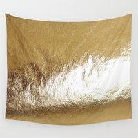 gold foil Wall Tapestries featuring Gold Foil by The Wellington Boot