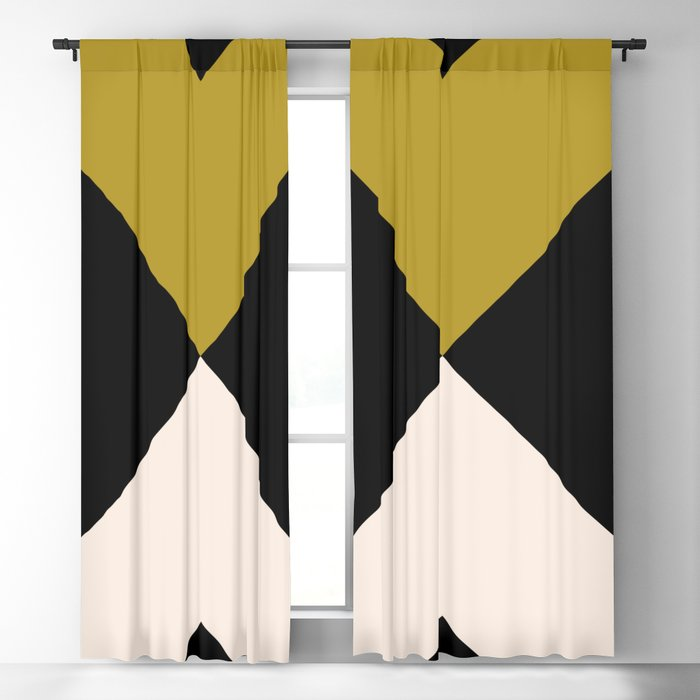Minimal X Dark Olive Blackout Curtain