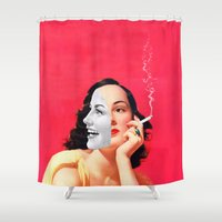 eugenia loli Shower Curtains featuring Multifaceted by Eugenia Loli