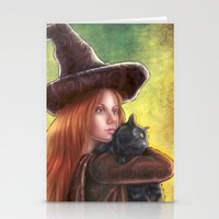 witch Stationery Cards featuring Witch by Miguel Angel Carroza