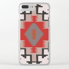 American Native Pattern No. 144 Clear iPhone Case