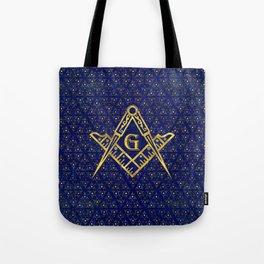 Freemasonry symbol Square and Compasses Tote Bag