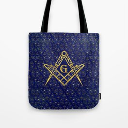 Freemasonry symbol Square and Compasses Tote Bag