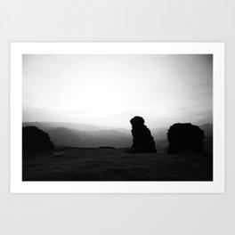 Night To Fall Black & White Art Print