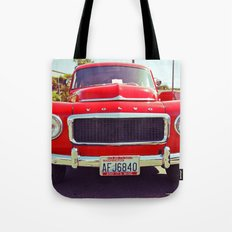 Red Volvo classic Tote Bag