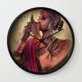 Ganja Girl Wall Clock