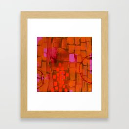 Brick Layers Framed Art Print