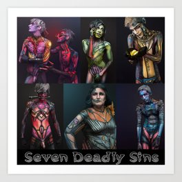 Seven Deadly Sins Art Print